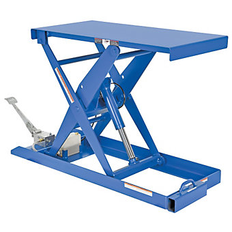 VESTIL Foot Pump Scissor Lift - 1000-lb. Capacity