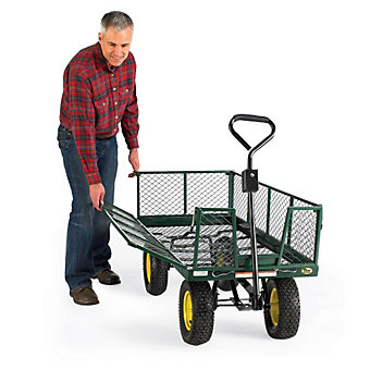 "VESTIL Cart with Fold-Down Sides - 48""Wx24""Dx26""H"
