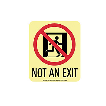 NMC Glo Brite Directional Sign - Not an Exit - Flex