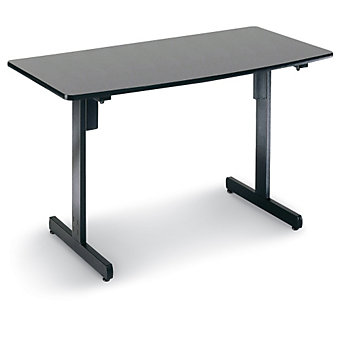 """OFM Utility Table - 24""""Lx48""""W Top - Graphite top/Black frame"""
