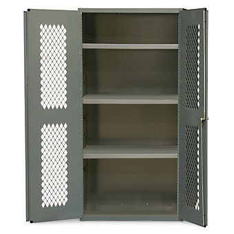 DURHAM Clear-View Cabinet with Expanded Metal Doors - 36x24x72""