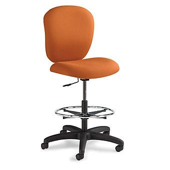 "ERGOCRAFT Urban Stool - 26-36"" Seat Height - Recycled Fabric - Amber"