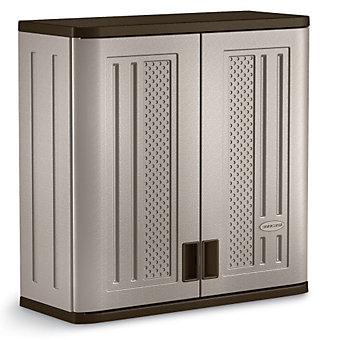 Suncast corrosion resistant storage cabinet wall mount for How to increase cabinet depth