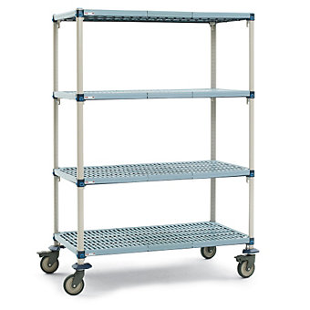 "METRO METROMAX Q Shelf Trucks with Microban Finish - 60""Wx24""D Shelf - 68""H"