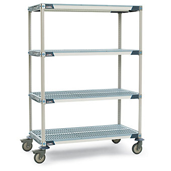 "METRO METROMAX i Shelf Trucks with Microban Finish - 48""Wx24""D Shelf - 79""H - Al..."