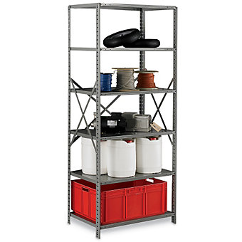 "HALLOWELL Hi-Tech Open-Style Shelving - 36x24x87"" - Starter Units"