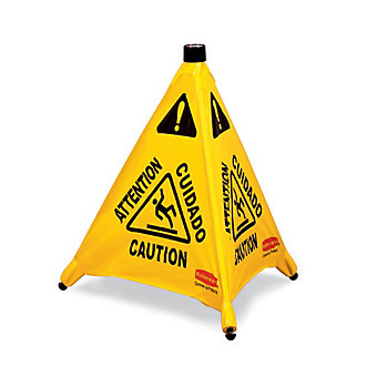 """RUBBERMAID Pop-Up Safety Cone - Caution - 20"""""""