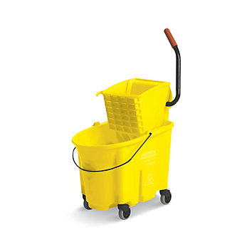 RUBBERMAID WaveBrake Mop Bucket/Wringer System - 35-Quart Capacity - Side Wringe...