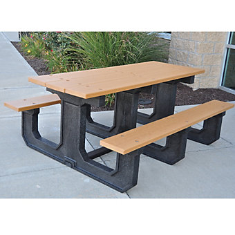 Jayhawk Plastics Park Place Recycled Plastic Picnic Table 6 39 L Outdoor Furniture Outdoor