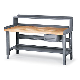 "TENNSCO All-Purpose Deluxe Workbench - 72x36"" Top - Blue - Maple"