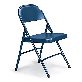 "KI 300 Series Folding Chair - 18-1/4 x19-3/4 x30-1/4"" - Single U-Brace - Blue"
