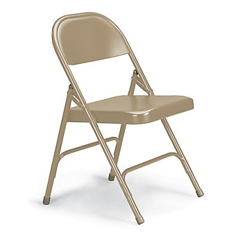 "KI 300 Series Folding Chair - 18-1/4 x19-3/4 x30-1/4"" - Single U-Brace - Beige"