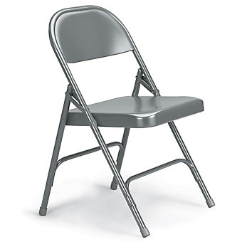 "KI 300 Series Folding Chair - 18-1/4 x19-3/4 x30-1/4"" - Single U-Brace - Gray"