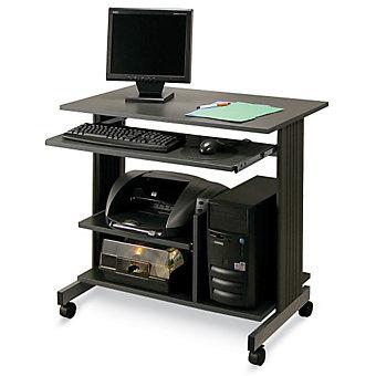 """SANDUSKY BUDDY Euroflex Mini-Tower Workstation - 35-1/2 x21-5/8 x31"""" - Black"""