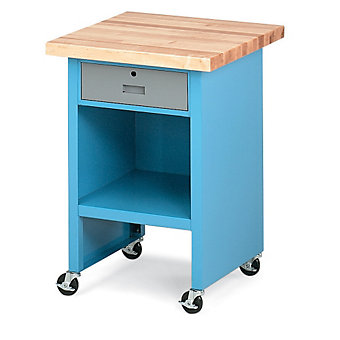"RELIUS ELITE Enclosed Machine Stand - 24x24x32"" - Blue"