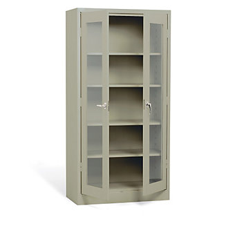 "ATLANTIC METAL Visual Storage Cabinet - 36x18x72"" - Putty"