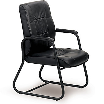 "EUROTECH Leather High-Back Side Chair - 17-1/2"" Seat Height"