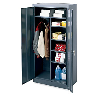"EDSAL Combination Cabinet - 36x18x78"" - Black"
