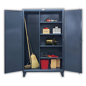 """STRONG HOLD Ultra-Capacity Housekeeping Cabinet - 36x24x78"""" - Tan"""