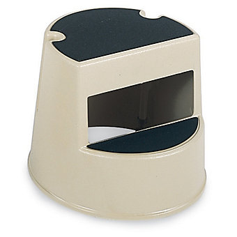 "RUBBERMAID Plastic Step Stool - 16x13"" - Beige"