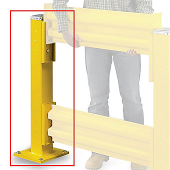 WILDECK Wilgard Two-Rib Protective Railing System - Lift-Out Post - Double Post ...