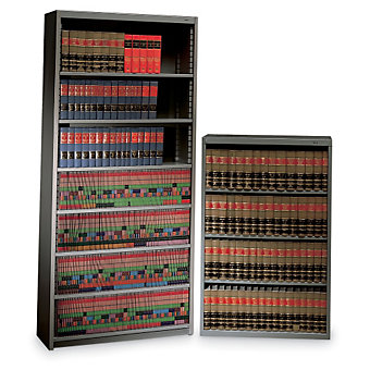 "TENNSCO Welded Bookcase - 34-1/2 x13-1/2 x52"" - Medium gray"