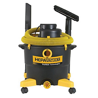DUSTLESS TECHNOLOGIES Wet/Dry Vac - H.E.P.A. Vac - 16-Gallon Capacity