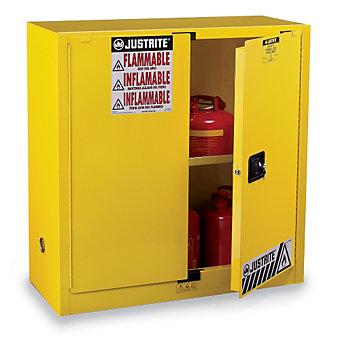 "JUSTRITE Sure-Grip EX Flammable Liquids Safety Cabinet - 43x34x65"" - 90-Gallon C..."