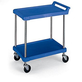 "METRO Polymer Utility Carts - 28""Wx18""D Shelf - 2 Shelves"