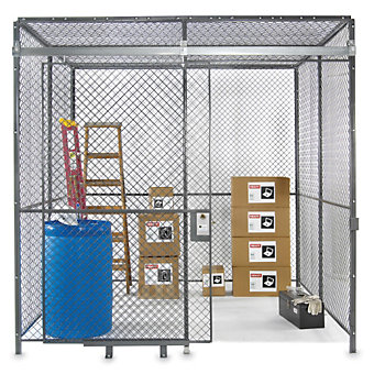 WIREWAY/HUSKY Complete Bolted Wire Enclosure - 3 Sides - With Ceiling - 20'Wx15'...