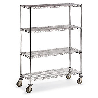 "METRO Super Adjustable Super Erecta Wire Shelf Trucks - 60""Wx24""D Shelf - 68""H"