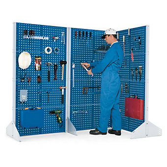"BOTT Freestanding Toolboard System - 20x2x18"" - (8) Perfo Panels - Double-Sided ..."
