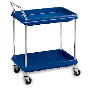"METRO Deep-Ledge Utility Carts - 32""Wx21-1/2""D Shelf - Blue"