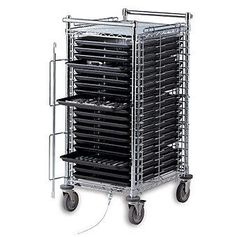 """METRO Electronics Tray Cart - 22""""Wx28""""Dx63""""H - 30-Tray Capacity"""