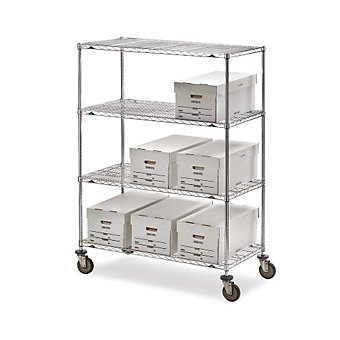 "METRO Super Erecta Shelf Trucks with Wire Shelves - 36""Wx18""D Shelf - 68""H"