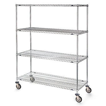 "METRO Super Erecta Shelf Trucks with Wire Shelves - 48""Wx18""D Shelf - 79""H"