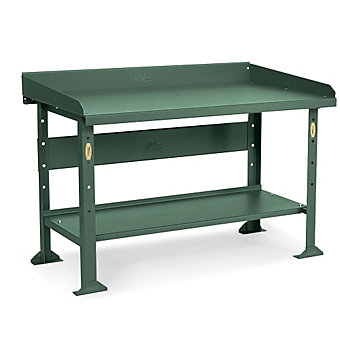 "POLLARD 14,000-Lb. Capacity 12-Gauge Steel Top Workbench - 96""Wx36""D Top - 32-1/..."