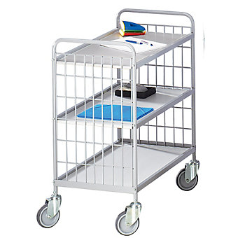 CLEARANCE - EUROKRAFT Wire Shelf Trucks - Steel Shelves - 3