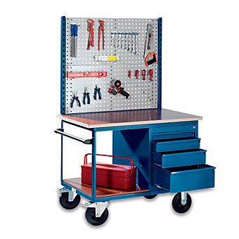 """EUROKRAFT Panel for Mobile Assembly Benches - Perforated Panel - 42-3/8 x37-3/8"""""""