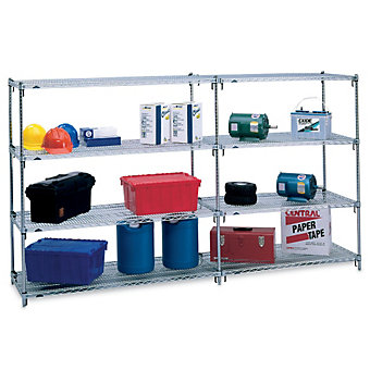 "METRO Super Adjustable 2 Shelving - 48x24x63"" - Starter Units"