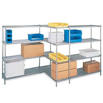 "METRO Open-Wire Shelving - 48x18x63"" - Starter Unit"