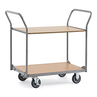 "RELIUS SOLUTIONS Standard Wood/Steel Utility Carts -33.5""Wx19.7""D Shelf - 2 Shel..."
