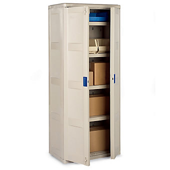 "SUNCAST Indoor/Outdoor Storage Cabinet - 30""Wx20""Dx72""H - Light gray"