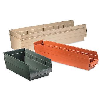 "AKRO-MILS EarthSaver Recycled Plastic Shelf Bins - 4-1/8 x23-5/8 x4"" - Sandstone"