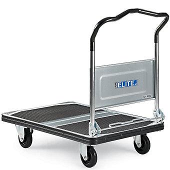 "RELIUS ELITE Premium Fold-Down Handle Platform Trucks with Steel Decks - 35.4""Lx..."
