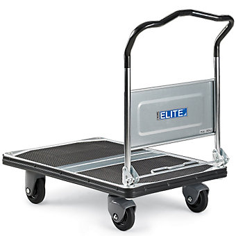 "RELIUS ELITE Premium Fold-Down Handle Platform Trucks with Steel Decks - 35.4""Lx..."