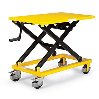 RELIUS SOLUTIONS Mechanical Mobile Scissor Lift Table - 660-Lb. Capacity