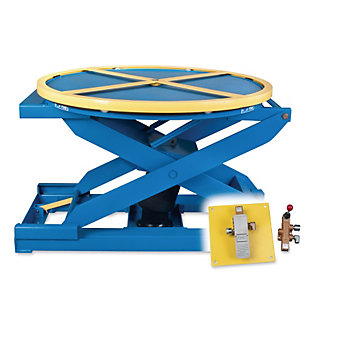 "BISHAMON EZ-UP Pneumatic Lift Table - 43"" Dia. Platform - Foot control"