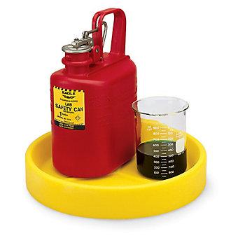 "Polyethylene Spill Tray - 13-1/2"" Dia.x3""H - Rotational Molded Polyethylene"