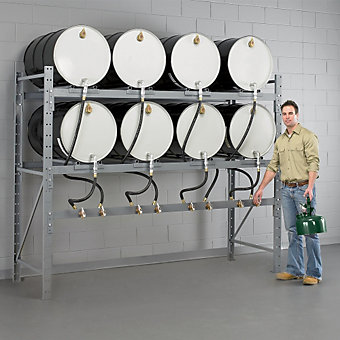 relius solutions drum dispensing system drum racks racks shelving avenue industrial supply. Black Bedroom Furniture Sets. Home Design Ideas
